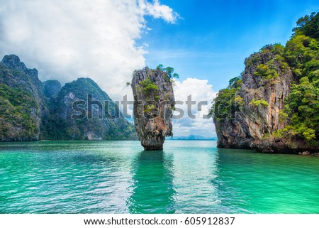 Thailand James Bond stone Island, Phang Nga #605912837