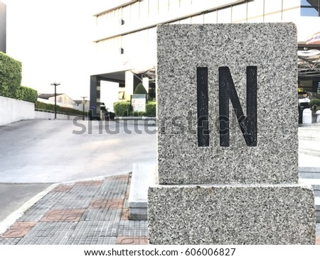 Word carve on marble background
