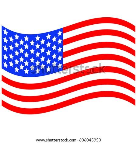 developing flag of America #606045950