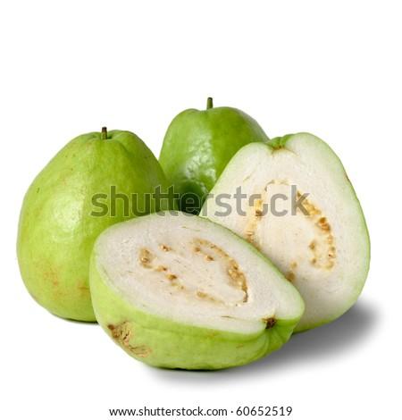 Guavas, group of fruit isolated on white background. #60652519