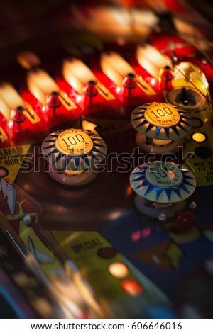 Flipper Pinball Royalty-Free Stock Photo #606646016