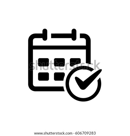 Event Schedule Icon Royalty-Free Stock Photo #606709283