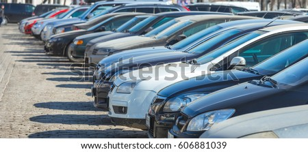 Parking cars Royalty-Free Stock Photo #606881039
