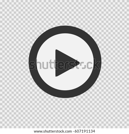 Play vector icon. Vector illustration EPS 10 on transparent background. #607191134