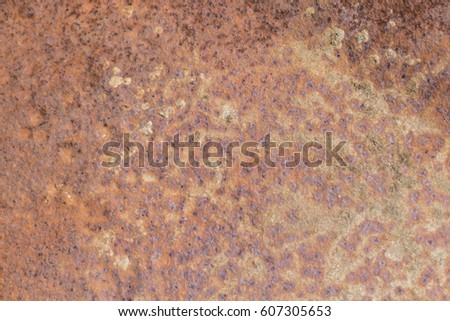Close up of rusted steel #607305653