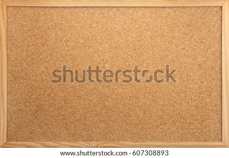 empty notice-board made of cork as backdrop #607308893