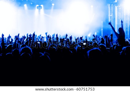 cheering crowd at concert #60751753
