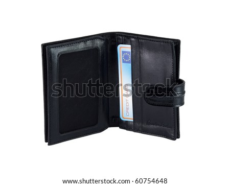 wallet for credit cards, isolated on a white background. #60754648