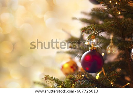 Christmas Card with free space left #607726013