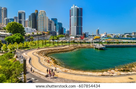 Nawi Cove in Barangaroo district of Sydney - Australia Royalty-Free Stock Photo #607854434