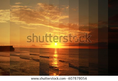 Timeslice, sunset day to night, time lapse photography