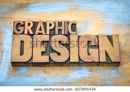 graphic design typography - word abstract in vintage letterpress wood type  against grunge wooden background #607896434