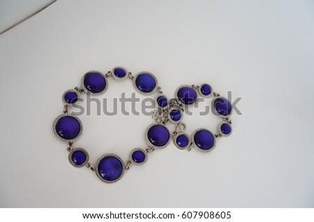 Blue necklace #607908605
