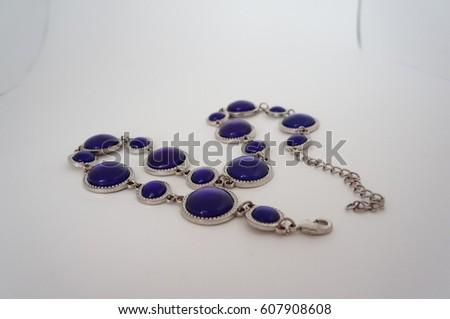 Blue necklace #607908608