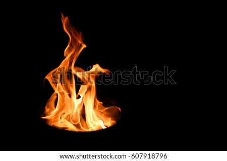 Fire. The fire is very hot. Don't play with it. Royalty-Free Stock Photo #607918796