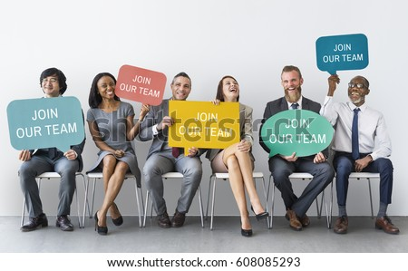 Hiring Career Employment Human Resources Concept Royalty-Free Stock Photo #608085293