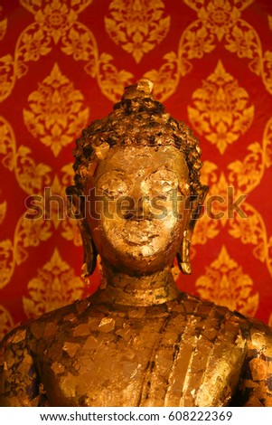 Buddha with gold paste #608222369