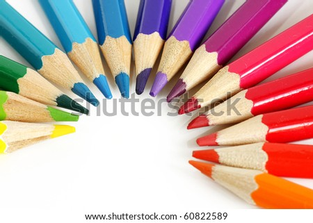 Colorful pencils, isolated on white #60822589