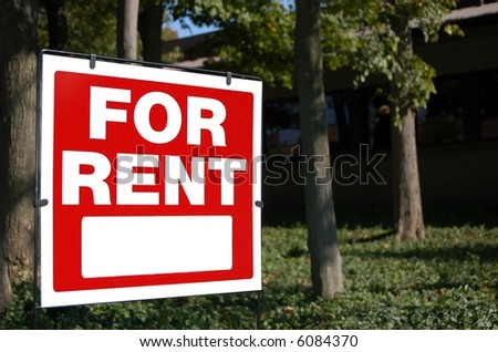 For rent sign at an office building #6084370