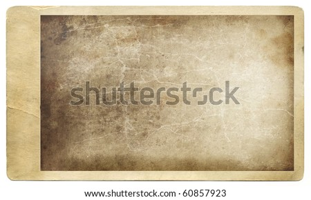Old grungy photo against a white background