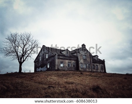 A haunted house in Belarus Royalty-Free Stock Photo #608638013