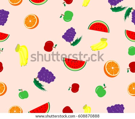 Pattern Seamless mixed fruit on background #608870888