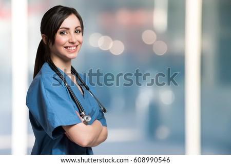 Smiling medical worker portrait