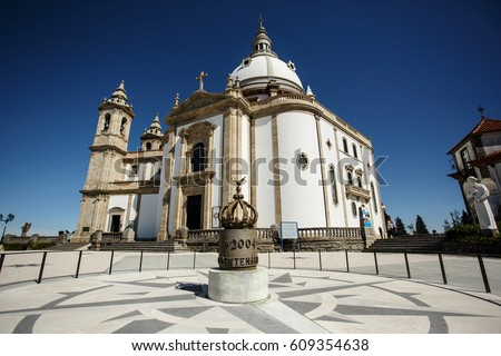 The Sanctuary of Our Lady Sameira / Marian Shrine and large steps / The sanctuary of Our Lady Sameiro is a sanctuary and marian shrine of Braga, Portugal.