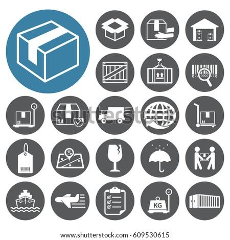 Shipping icon set.Vector illustration  #609530615