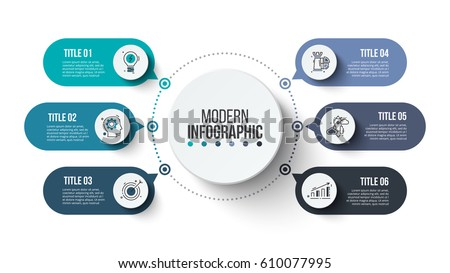 Business data visualization. Process chart. Abstract elements of graph, diagram with steps, options, parts or processes. Vector business template for presentation. Creative concept for infographic. Royalty-Free Stock Photo #610077995