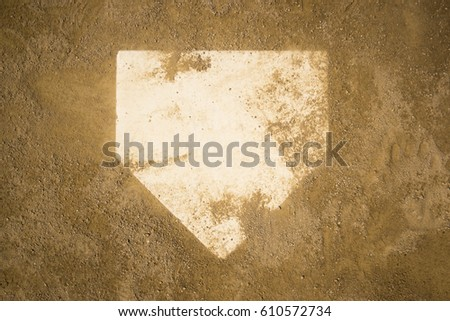 baseball home plate home base #610572734