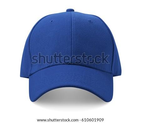 Baseball cap isolated on white background. Royalty-Free Stock Photo #610601909
