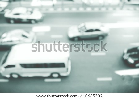 Picture blurred  for background abstract and can be illustration to article of traffic #610665302
