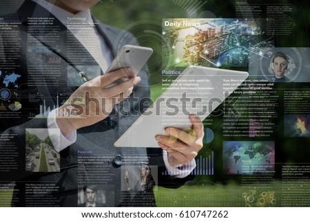 smart phone news application concept
