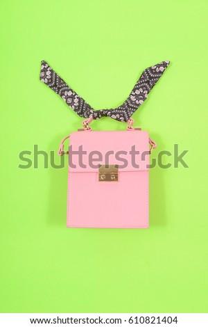 Fashion handbag-green background #610821404