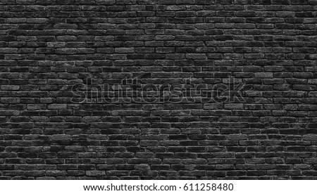 Black brick wall texture, brick surface as background #611258480