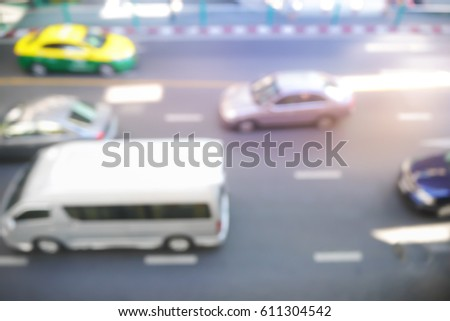 Picture blurred  for background abstract and can be illustration to article of traffic #611304542