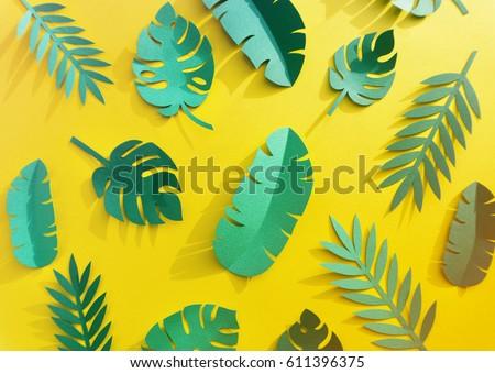 Tropical Handcrafted Papercraft Nature Petals #611396375