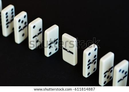 A dominoe blocks the rest #611814887