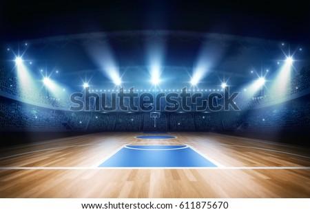 basketball arena 3d rendering #611875670
