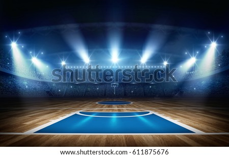 basketball arena 3d rendering #611875676