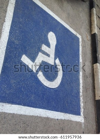 Parking symbol disabled. #611957936
