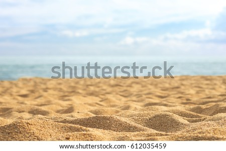 beautiful sand beach Royalty-Free Stock Photo #612035459