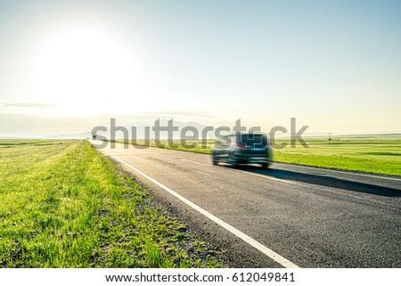 road on grassland #612049841