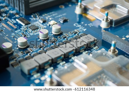 Computer electronic circuit board motherboard technology #612116348