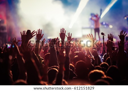 crowd at concert - summer music festival #612151829