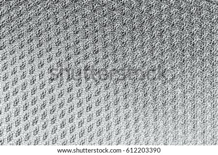 Texture background of polyester fabric. Plastic weave fabric pattern #612203390