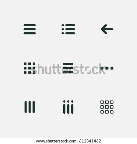 menu and ui icons set vector Royalty-Free Stock Photo #612341462