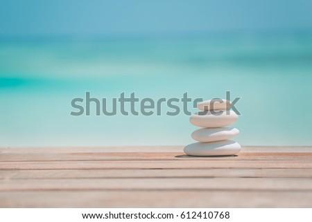 Zen stones, meditation relax concept.  Inspirational background