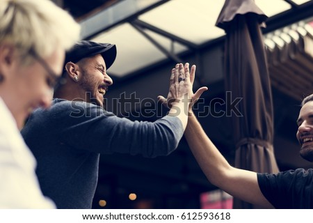 Friends Community Chill Out Together Royalty-Free Stock Photo #612593618